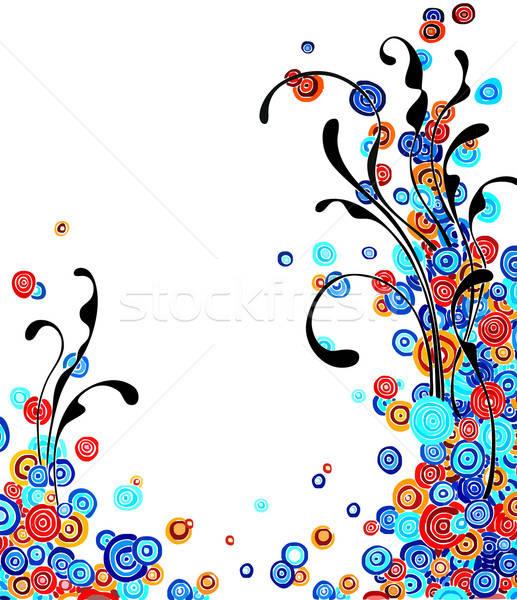 Floral illustration utile designer travaux fleur Photo stock © Aqua