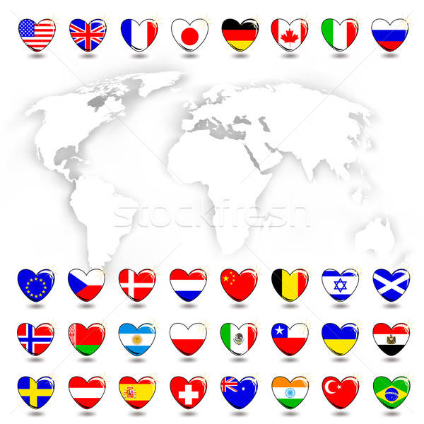 map and flag Stock photo © Aqua