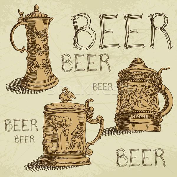 ビール 3  ヴィンテージ 実例 することができます 中古 ストックフォト © Aqua