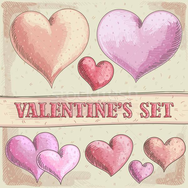 Corações coração ilustração útil estilista Foto stock © Aqua