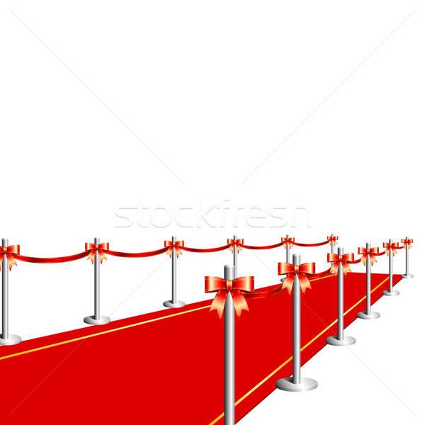 Tappeto rosso illustrazione utile designer lavoro business Foto d'archivio © Aqua