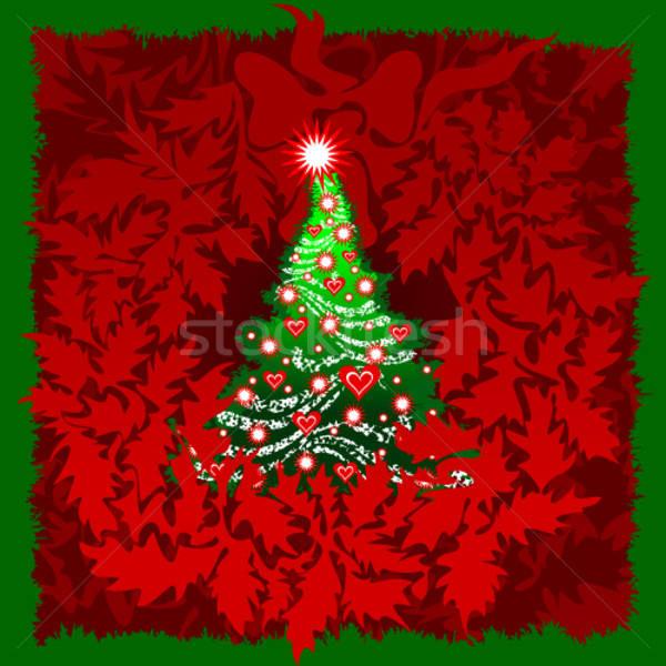 Natal ilustração útil estilista trabalhar árvore Foto stock © Aqua