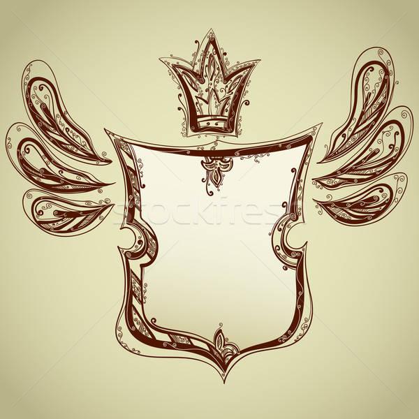 Disegno scudo illustrazione utile designer lavoro Foto d'archivio © Aqua