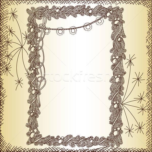 Natal ilustração lata usado fundo papel de parede Foto stock © Aqua