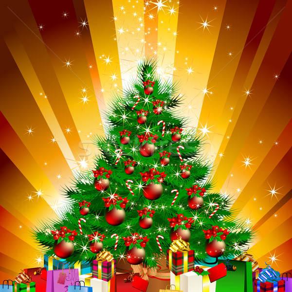 Karácsony fenyő illusztráció hasznos designer munka Stock fotó © Aqua