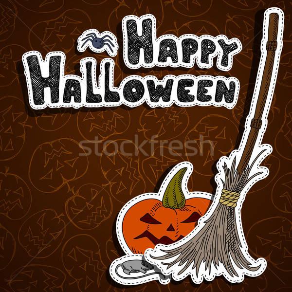 Halloween illusztráció konzerv használt absztrakt horror Stock fotó © Aqua