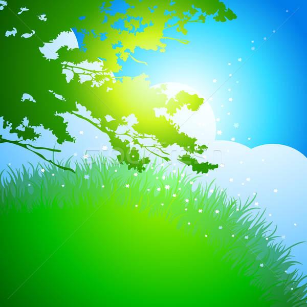 Paysage illustration utile designer travaux ciel Photo stock © Aqua