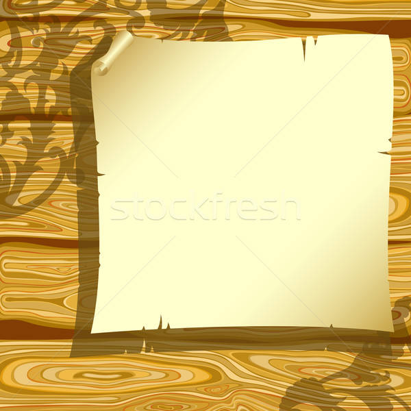 Papel velho ilustração útil estilista trabalhar madeira Foto stock © Aqua
