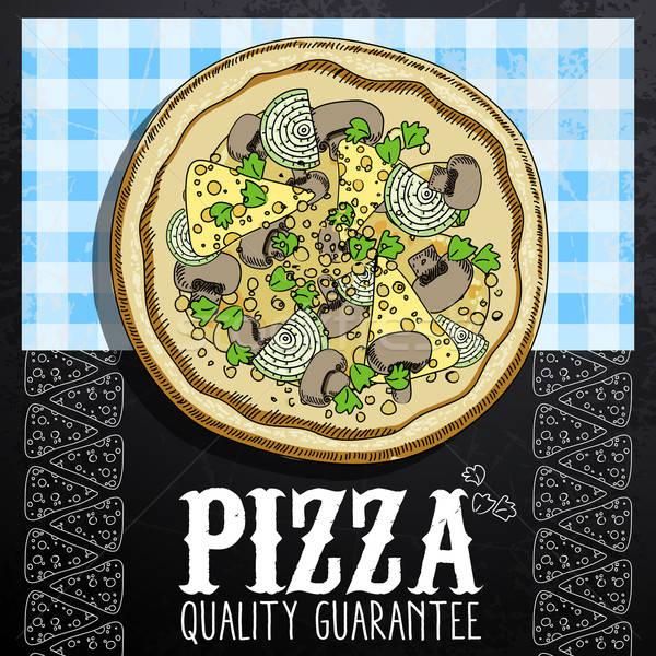 Chaud pizza annonce image Photo stock © Aqua