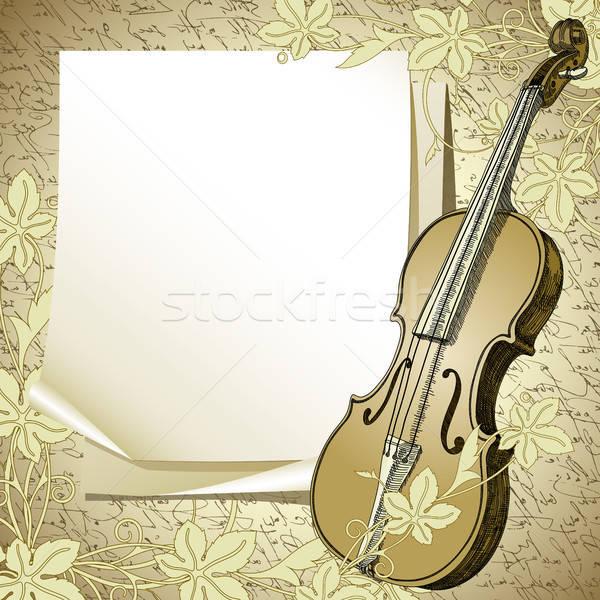 Foto stock: Violino · ilustração · útil · estilista · trabalhar · arte