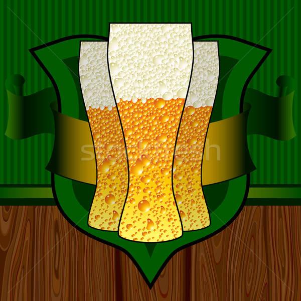 Cerveja ilustração útil estilista trabalhar vidro Foto stock © Aqua