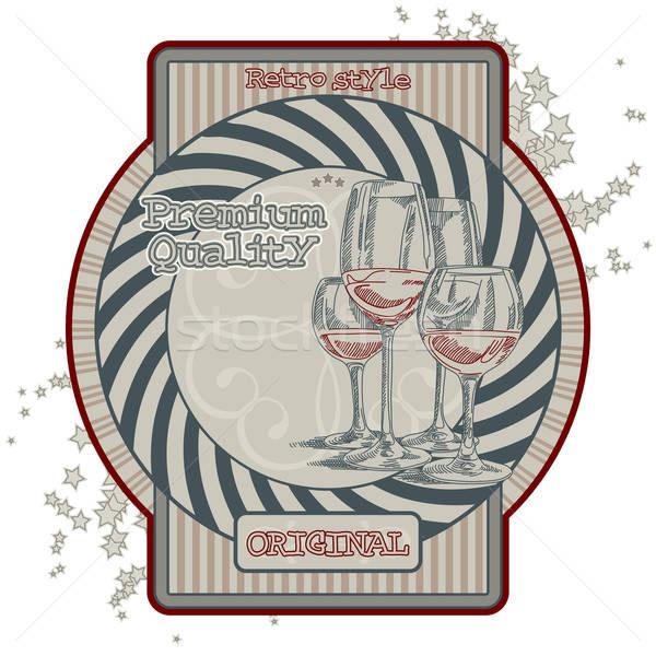 ワイン タグ オリジナル ラベル スタイル レトロな ストックフォト © Aqua