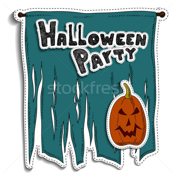 Foto d'archivio: Halloween · illustrazione · può · usato · abstract · arancione