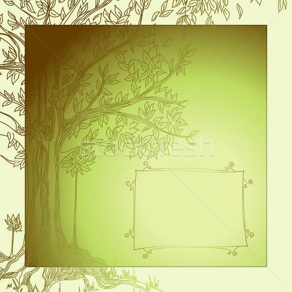 Albero illustrazione utile designer lavoro fiori Foto d'archivio © Aqua
