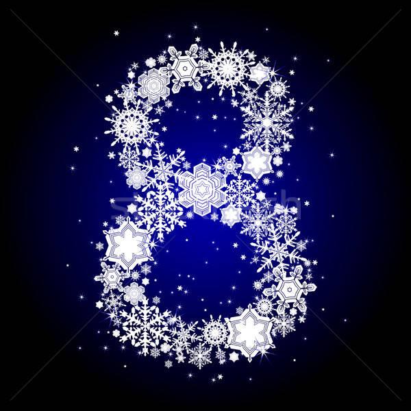アルファベット 雪 番号 書かれた 雪 実例 ストックフォト © Aqua
