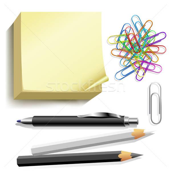 Lápis ilustração útil estilista trabalhar escolas Foto stock © Aqua
