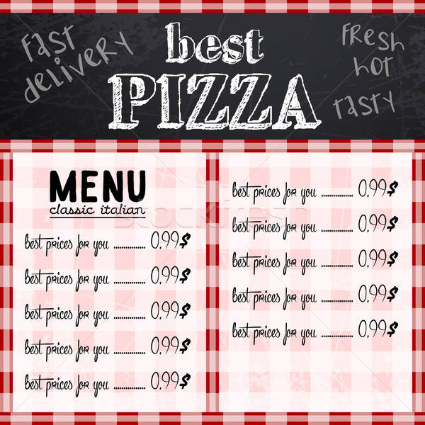 Sjabloon restaurant menu monster ontwerp pizzeria Stockfoto © Aqua