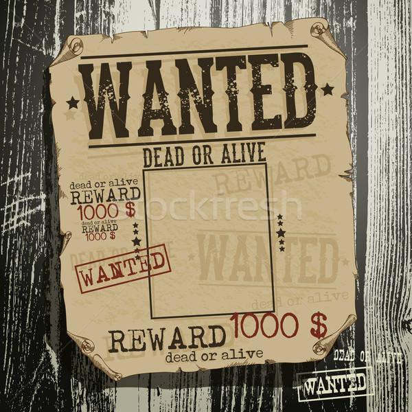 wanted advertisement Stock photo © Aqua