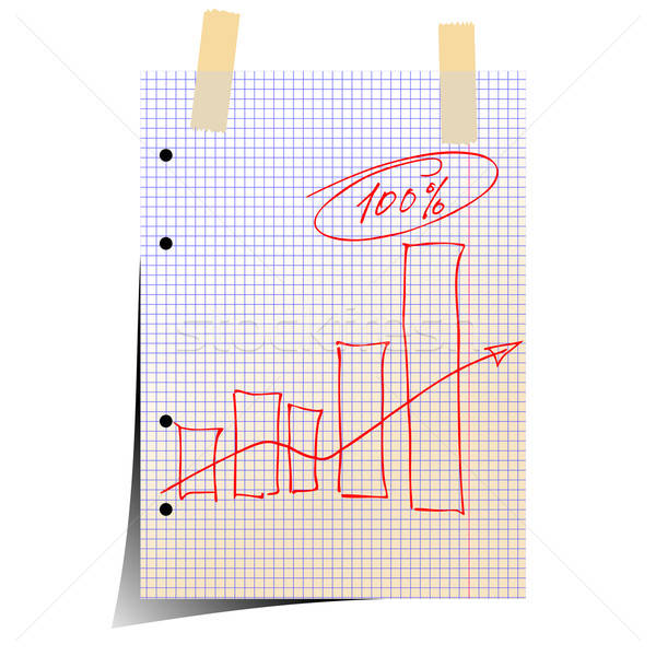 Statistique illustration utile designer travaux papier Photo stock © Aqua
