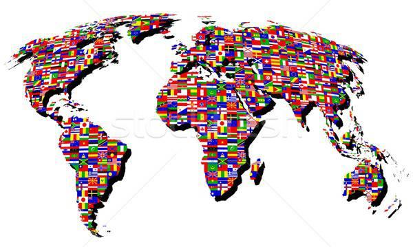Kaart illustratie nuttig ontwerper werk internet Stockfoto © Aqua