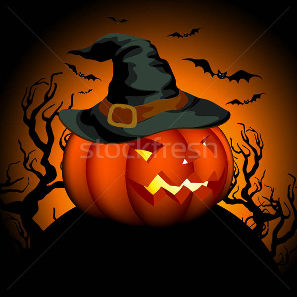 Halloween illustratie nuttig ontwerper werk oranje Stockfoto © Aqua