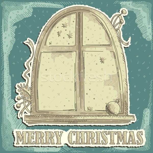 Natale illustrazione utile designer lavoro finestra Foto d'archivio © Aqua