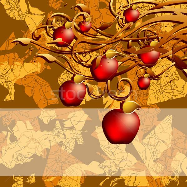 Autunno illustrazione utile designer lavoro albero Foto d'archivio © Aqua