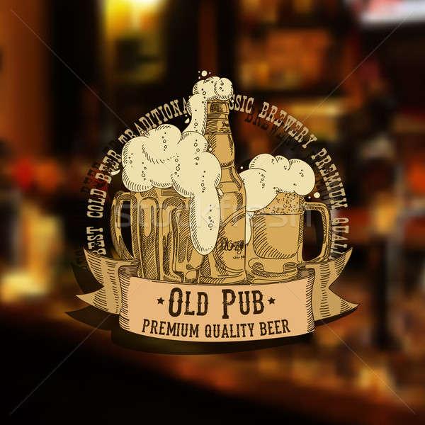 ビール 実例 することができます 中古 バー ボトル ストックフォト © Aqua