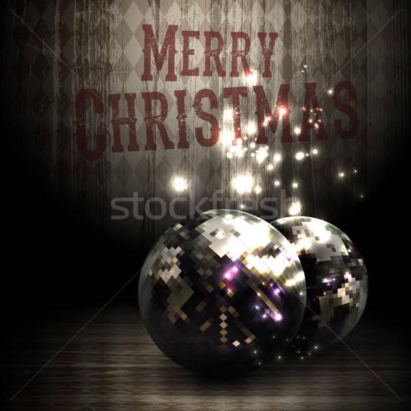 Natal projeto ilustração lata usado luz Foto stock © Aqua