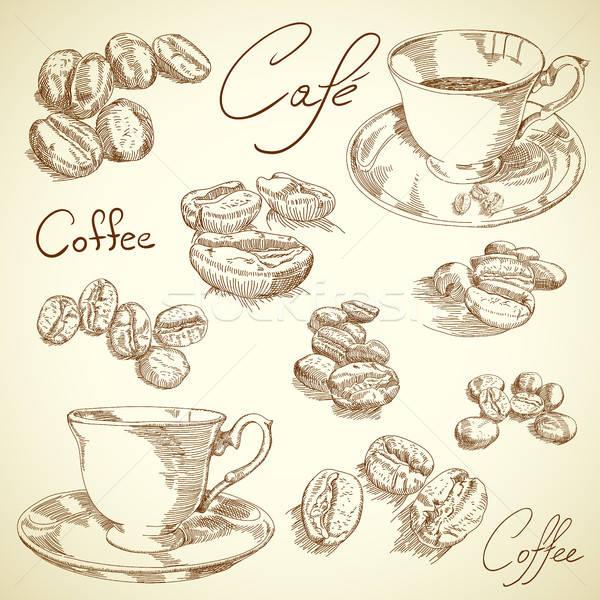 Café illustration utile designer travaux crayon Photo stock © Aqua