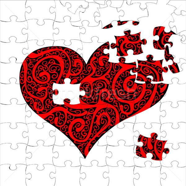 Puzzle cuore illustrazione utile designer lavoro Foto d'archivio © Aqua