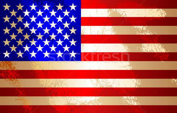 USA zászló illusztráció hasznos designer munka Stock fotó © Aqua