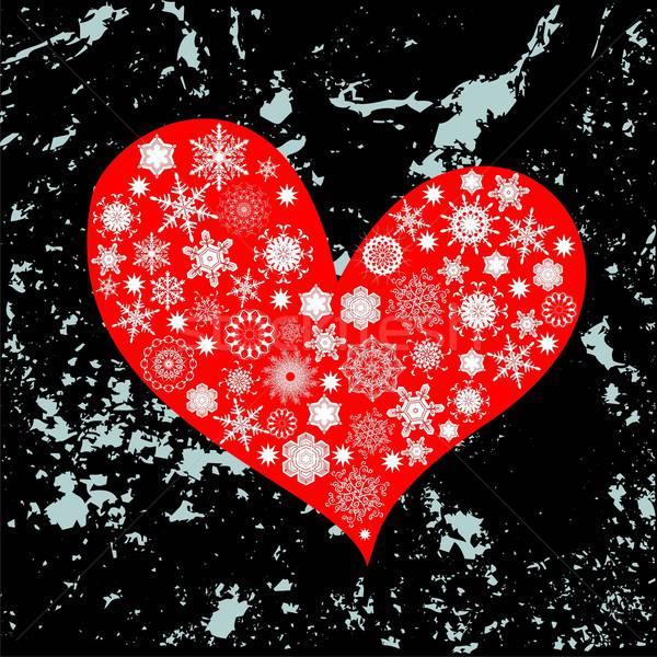Coração natal ilustração útil estilista trabalhar Foto stock © Aqua