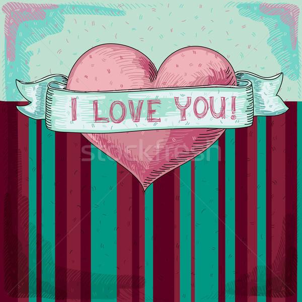 Coração ilustração útil estilista trabalhar Foto stock © Aqua