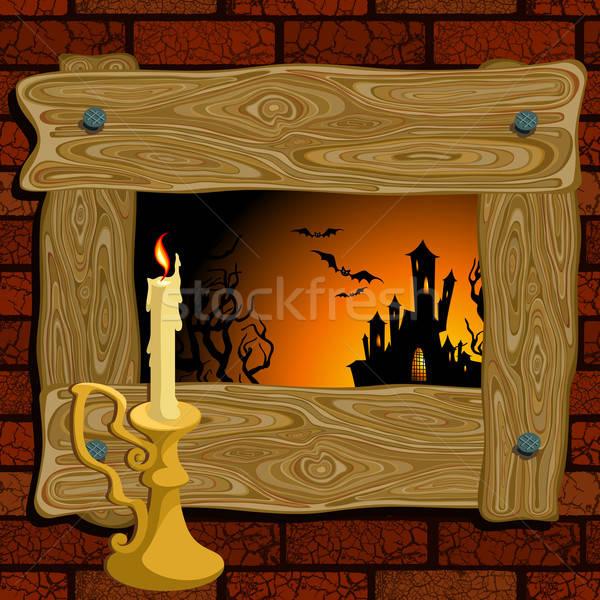 Halloween illustratie nuttig ontwerper werk kat Stockfoto © Aqua