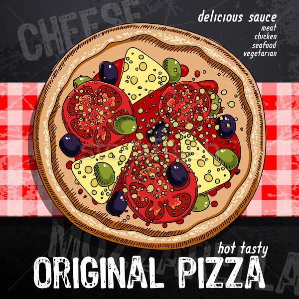 Caldo pizza Pubblicità immagine Foto d'archivio © Aqua