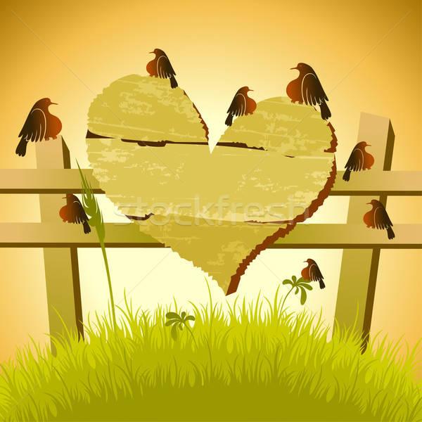 Foto stock: Conselho · pássaro · ilustração · útil · estilista