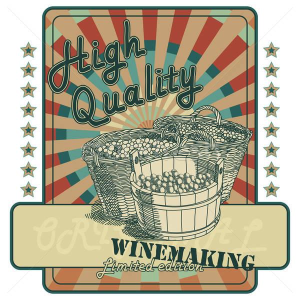 ワイン タグ オリジナル ラベル スタイル ストックフォト © Aqua