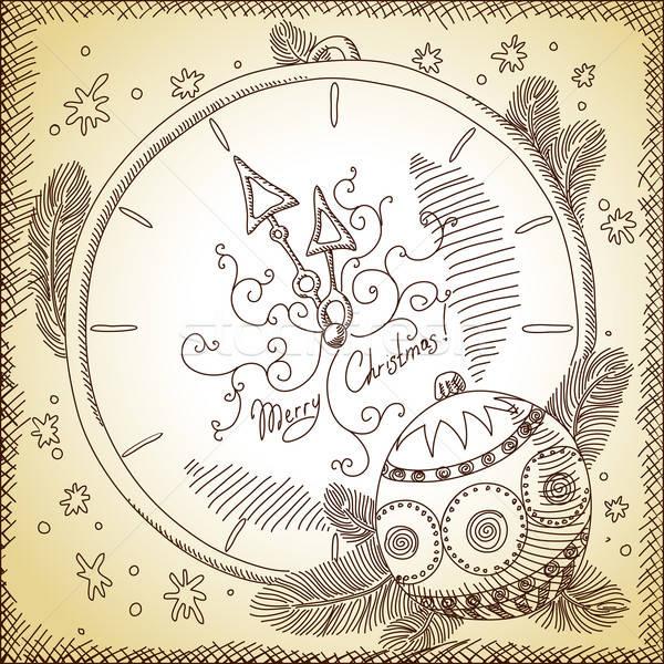 Foto d'archivio: Natale · illustrazione · può · usato · sfondo · wallpaper