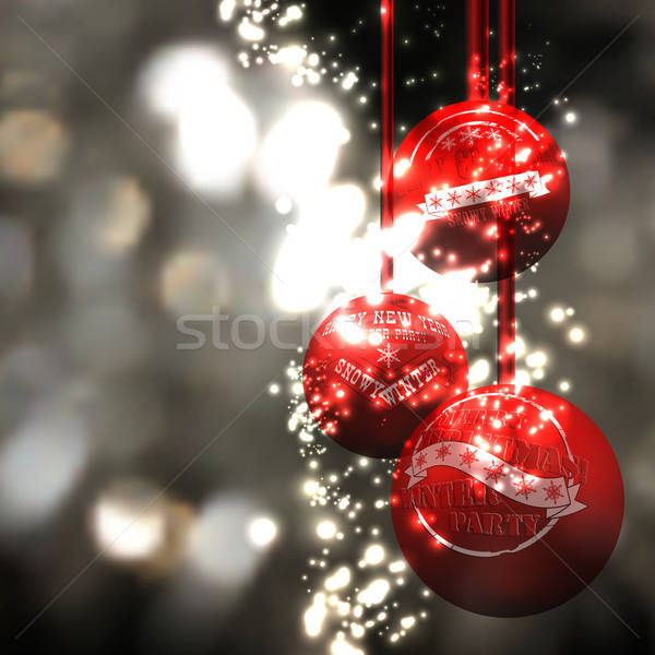 Natale design illustrazione può usato luce Foto d'archivio © Aqua