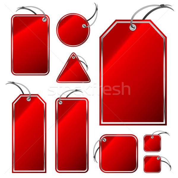 Set rosso illustrazione utile designer Foto d'archivio © Aqua
