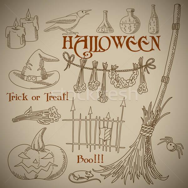Halloween ilustração lata usado abstrato horror Foto stock © Aqua