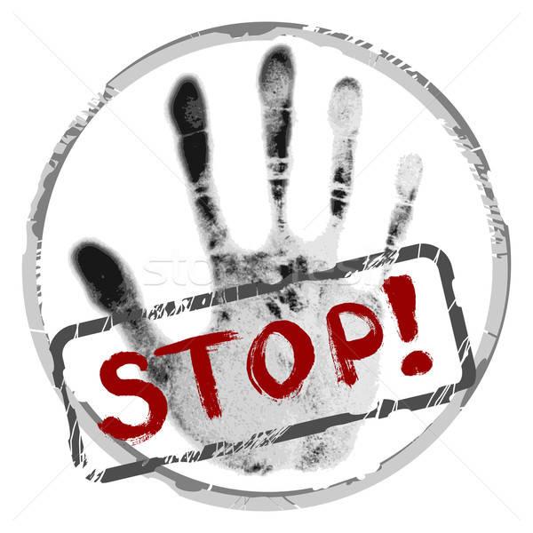 Stop stilizzato segno forma rosso stop Foto d'archivio © Aqua
