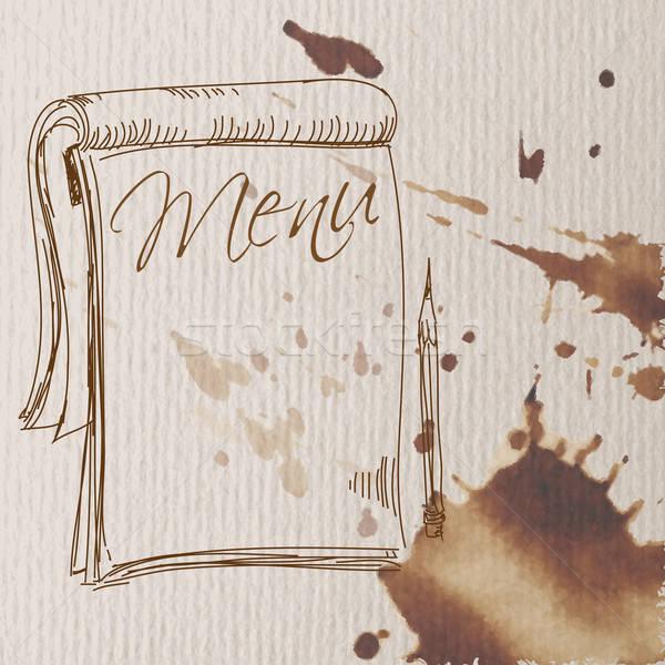 Restaurante menu caderno escrever abstrato estilo Foto stock © Aqua