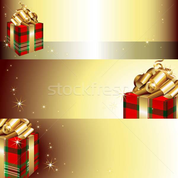 Banner Natale illustrazione utile designer lavoro Foto d'archivio © Aqua