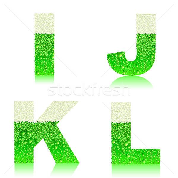 Alphabet vert bière illustration utile designer Photo stock © Aqua