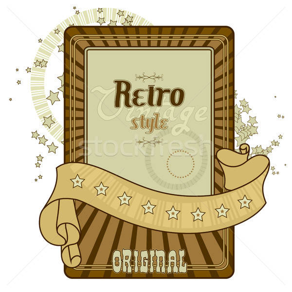 Retro label illustratie nuttig ontwerper werk Stockfoto © Aqua