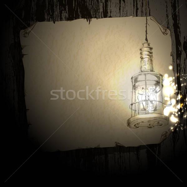 Lampada illustrazione può usato carta abstract Foto d'archivio © Aqua
