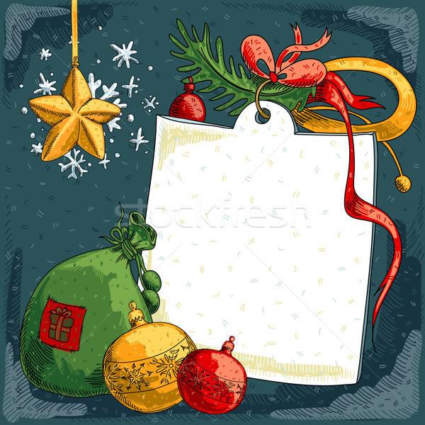Natal ilustração útil estilista trabalhar neve Foto stock © Aqua