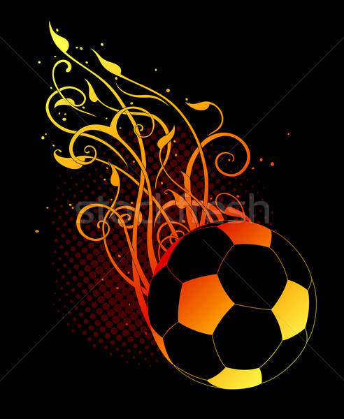 Art football balle décoré noir Photo stock © Aqua